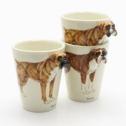 Caneca Cerâmica Cão Boxer Alto Relevo Presente