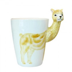 Caneca Cerâmica Alpaca para Café Chá Divertida Decorativa