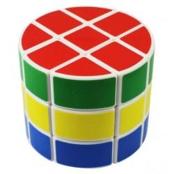 Cubo Mágico Cilíndrico Base Branca Desafio Geek