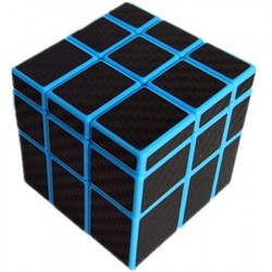 Cubo Mágico Irregular Preto Emborrachado Base Azul Desafio QI Geek
