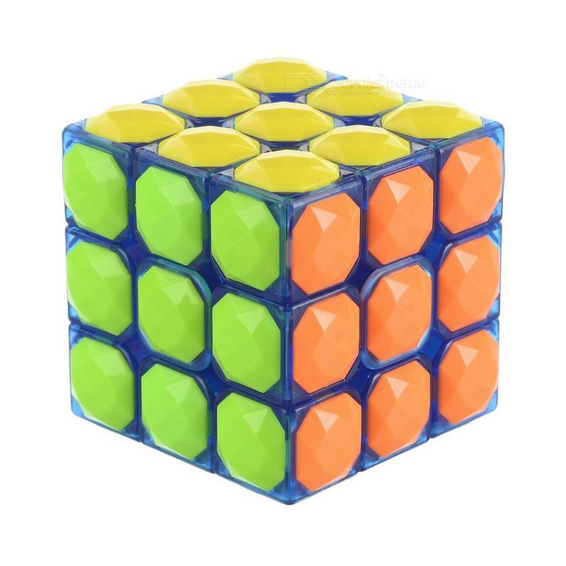 Cubo Mágico Base Azul Transparente Desafio QI Geek