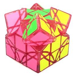 Cubo Mágico Irregular Base Rosa Transparente Desafio QI Geek