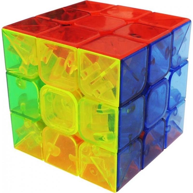 Cubo Mágico Transparente Colorido Desafio Geek