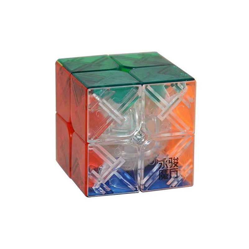 Cubo Mágico Transparente 2x2x2 Colorido Desafio Geek