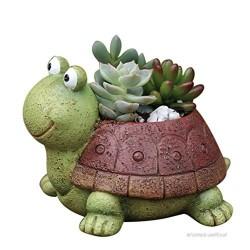 Vasinho para Plantas Suculentas Tartaruga Cerâmica