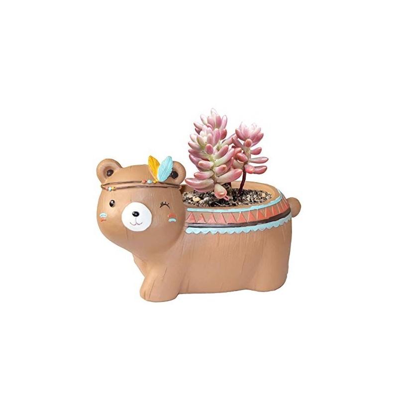 Vasinho para Plantas Suculentas ou Cactus Formato de Ursinho