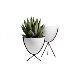 Vasinho para Plantas Suculentas ou Cactus Branco Cerâmica
