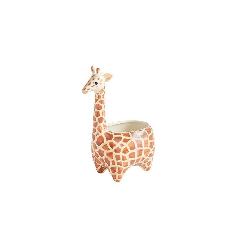 Vaso Cerâmica Formato de Girafa para Plantas Suculentas ou Cactus
