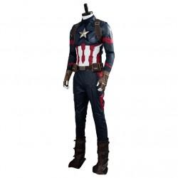 Fantasia Masculina Capitão América Ultimato Halloween Cosplay