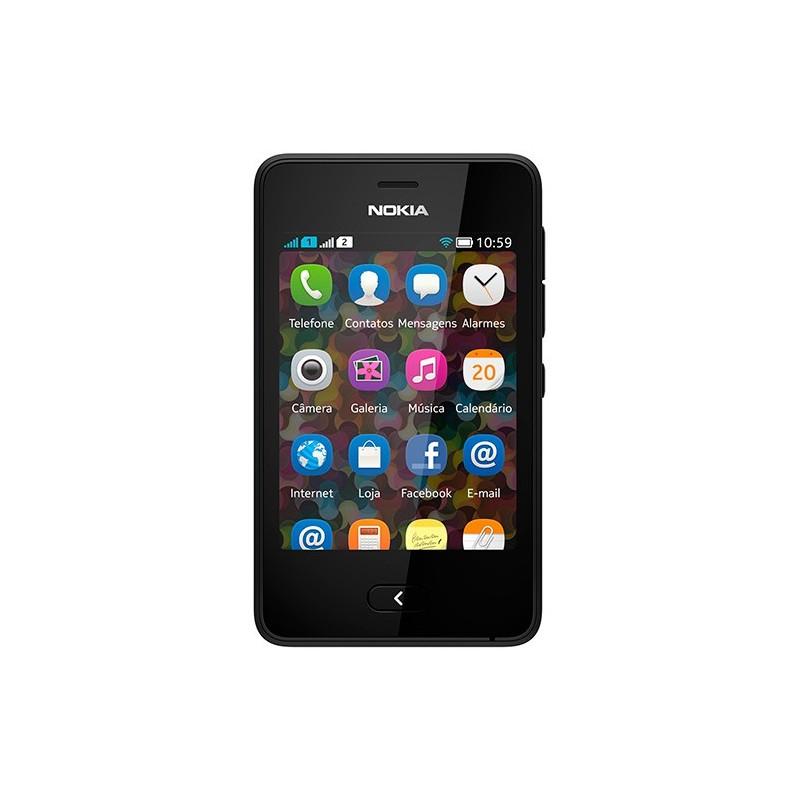 Celular Asha 501 Dual Chip Preto Wi-Fi Memória Interna 50MB Cartão de Memória 4GB