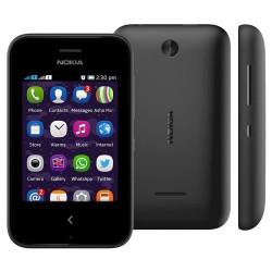 Celular Nokia Asha 230 Preto com Dual Chip, Câmera 1,3MP Bluetooth Rádio FM MP3 e Fone de Ouvido