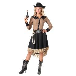 Fantasia Feminina Cowgirl...