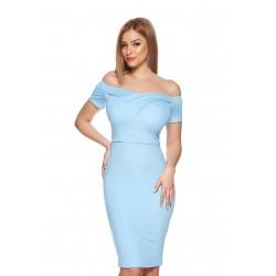 Vestido Azul Claro Tafetá...