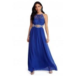 Vestido Azul Royal Longo...