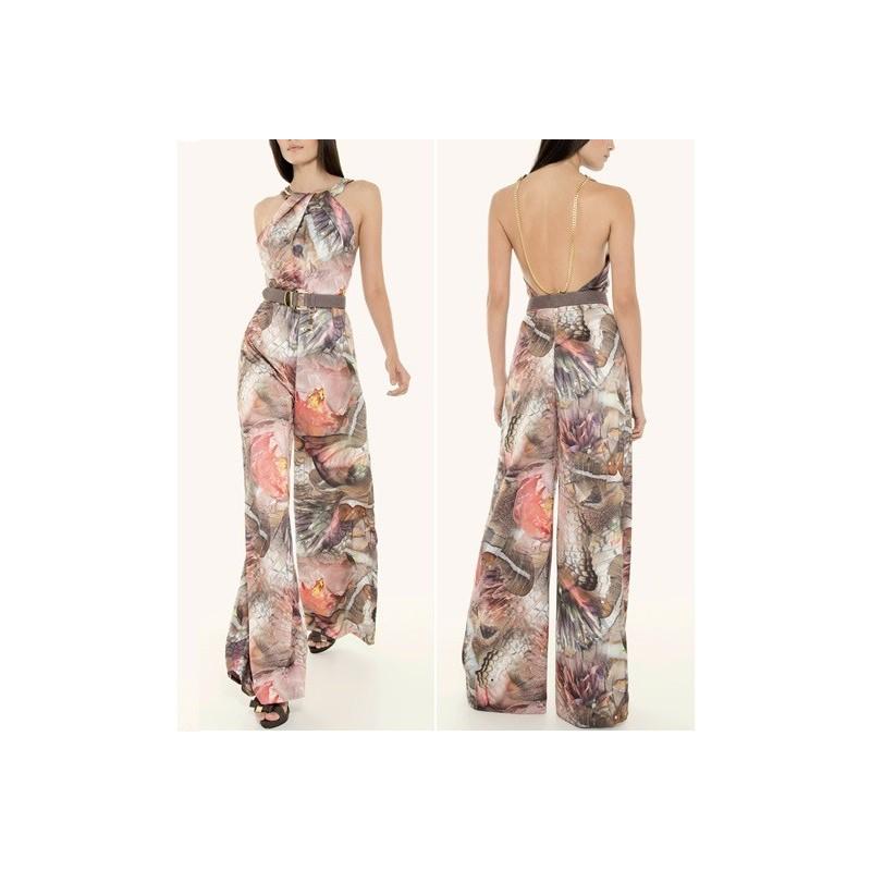 Macacão Feminino Estampado Floral Pantalona