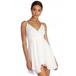 Vestido Festa Curto Branco...