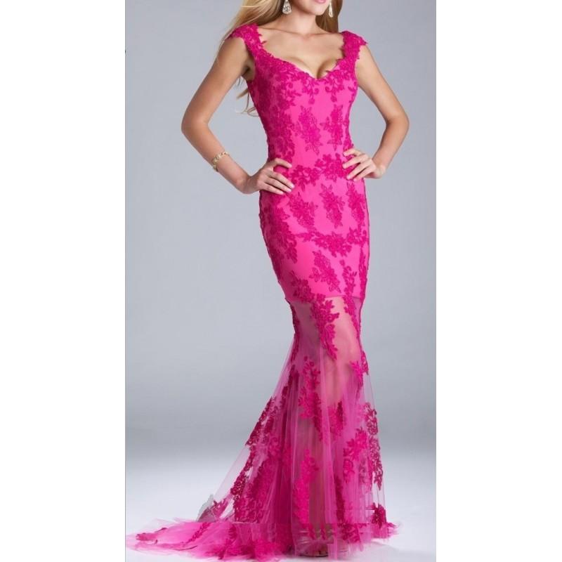 Vestido Festa Longo Rosa Pink Sereia