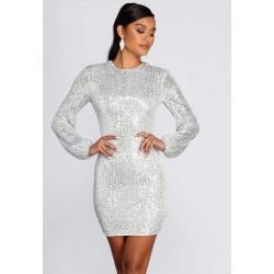 Vestido Branco Brilho Com...