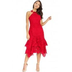 Vestido Vermelho Renda...