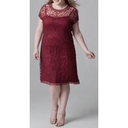Vestido Festa Renda Vermelho Plus Size