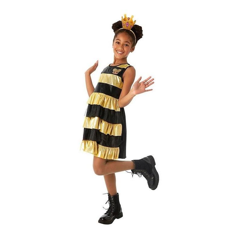 Fantasia Infantil Boneca Lol Queen Bee Halloween Carnaval