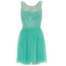 Vestido Renda Verde Saia Godê