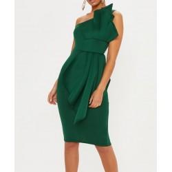 Vestido Tafetá Verde...