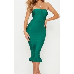 Vestido Neoprene Verde...