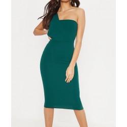 Vestido Chiffon Verde...