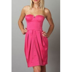 Vestido Tomara que Caia Pink Acinturado