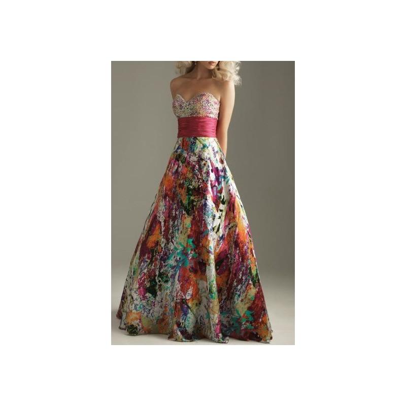 Vestido de cetim estampado para madrinha
