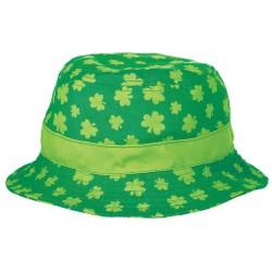 Chapéu Bucket Hat Verde Trevos