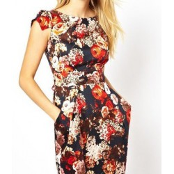 Vestido Estampado Floral Curto