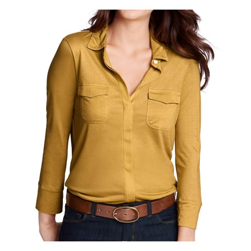 Blusa Feminina Camisa Malha Manga Longa