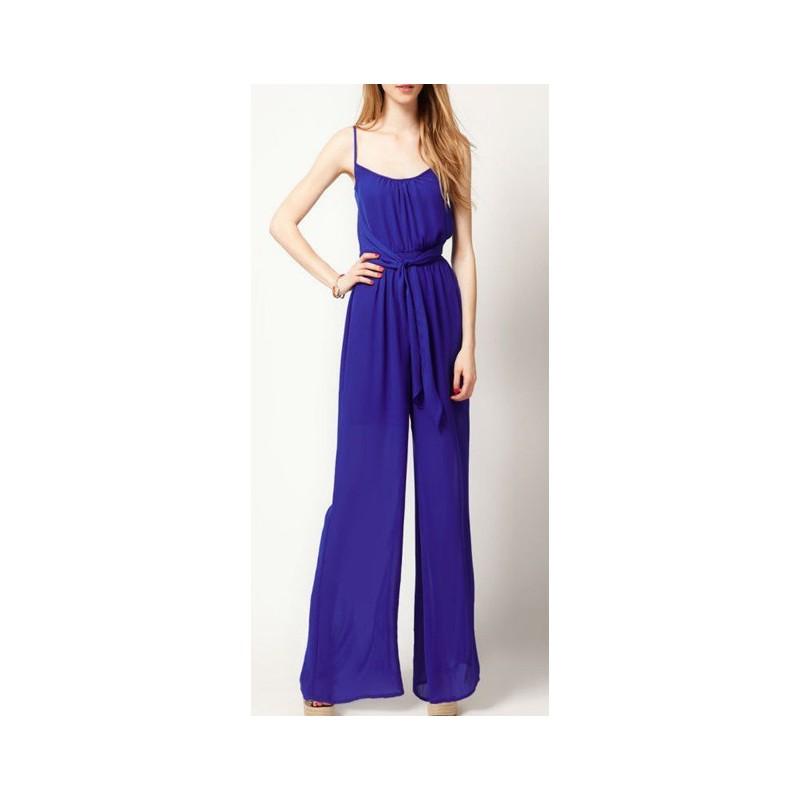 Macacão Feminino Pantalona Azul