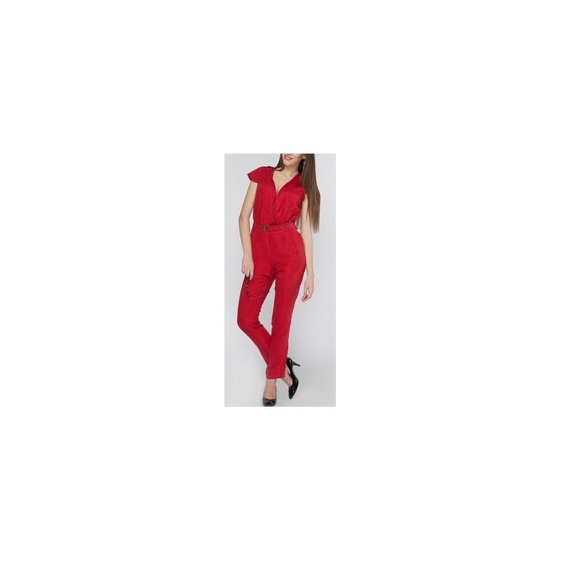 Macacão Feminino Vermelho Cinto