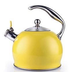 Chaleira esmaltada amarela...