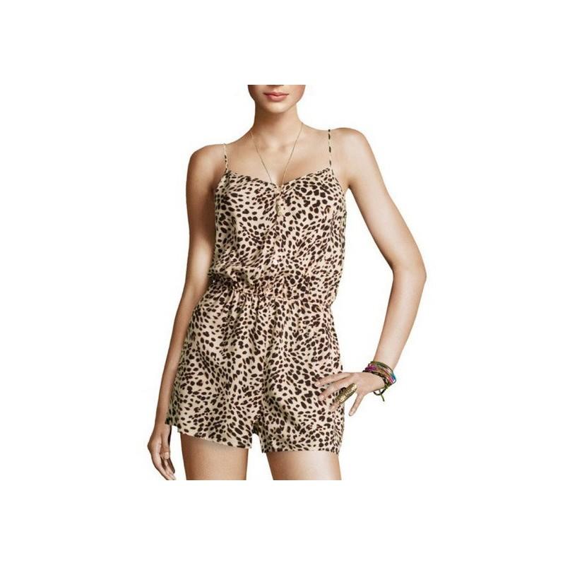 Macaquinho Feminino Chiffon Leopardo Oncinha Curto