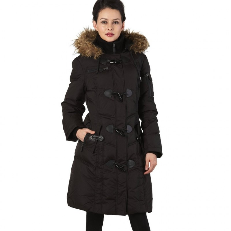 Casaco Inverno Feminino Super Quente com Touca