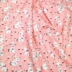 Tecido tricoline rosa 100%...