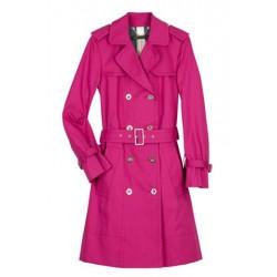 Casaco Feminino Trench Coat Rosa Pink
