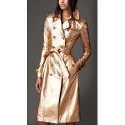 Casaco Feminino Trench Coat Burberry Metálico