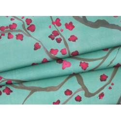 Tecido verde flor de...