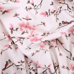 Tecido rosa flor de...