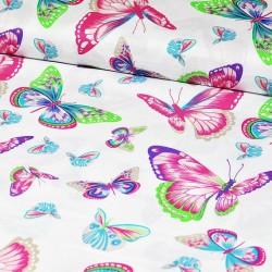 Tecido estampa borboletas...