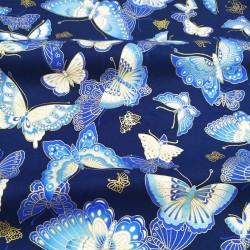 Tecido azul algodão...