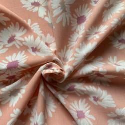 Tecido rosa estampado...