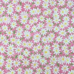 Tecido rosa estampa floral...
