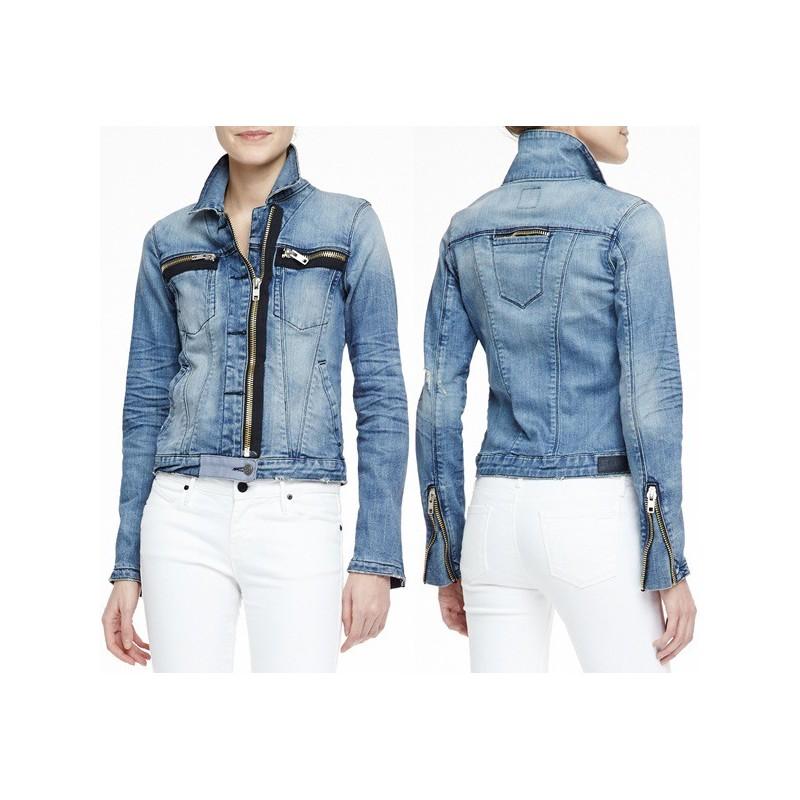 Jaqueta Feminina Jeans Ziper