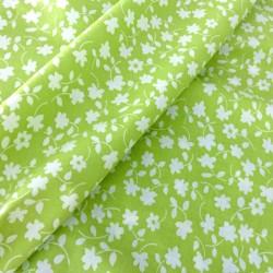 Tecido verde 100% algodão...